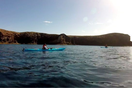 KAYAK DE TRAVESÍA: Playa Quemada – Playa Blanca
